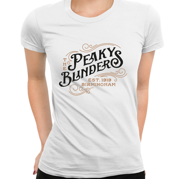 Women's The Peaky Blinders Tommy Shelby's Movie Crew Neck Black T-shirt