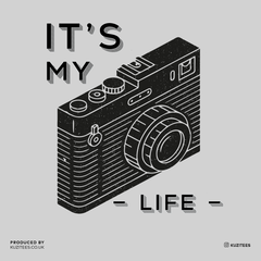 It Is My Life Vintage Old Camera Funny Typography White T-shirt For Photographers