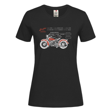 Women's Coffee Roaster Hipster Harley Davidson Biking Crew Neck Grey T-shirt
