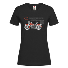 Women's Coffee Roaster Hipster Harley Davidson Biking Crew Neck Black T-shirt