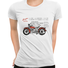 Women's Coffee Roaster Hipster Harley Davidson Biking Crew Neck White T-shirt