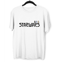 StarWars Droids Crew Neck T-Shirt R2D2 BB8 BB9E White