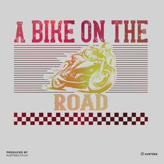 A Bike On The Road Crew Neck T-Shirt For Biking Minds