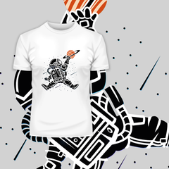 Space Jump Amazing Retro Vintage Crew Neck T-shirt White