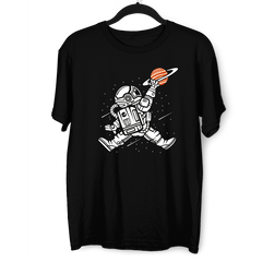 Space Jump Amazing Retro Vintage Crew Neck T-shirt Black