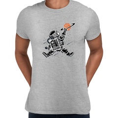 Space Jump Amazing Retro Vintage Crew Neck T-shirt Grey