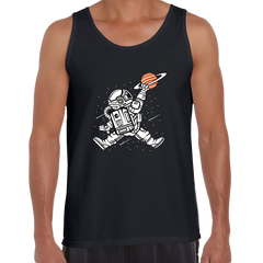 Space Jump Amazing Retro Vintage Crew Neck Tank Top  Black