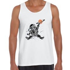 Space Jump Amazing Retro Vintage Crew Neck White Tank Top
