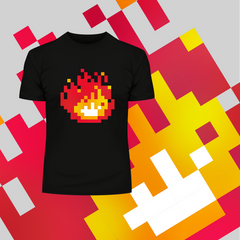 Minecraft Fireplace Amazing Crew Neck T-shirt For Online Game Geeks Black