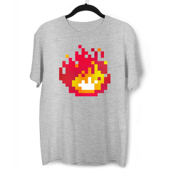 Minecraft Fireplace Amazing Crew Neck T-shirt For Online Game Geeks Grey