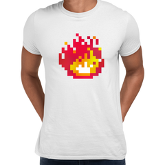 Minecraft Fireplace Amazing Crew Neck T-shirt For Online Game Geeks White