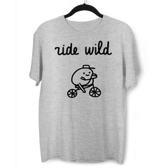 Ride Wild Funny Hipster Biking Apparel Crew Neck T-shirt Garey