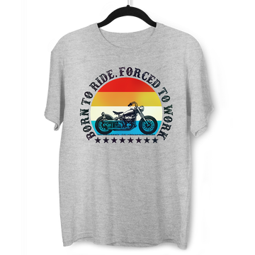 Born to Ride - Forced To Work Harley Davidson Tee Black