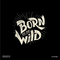 Born to Be Wild Harley Davidson Quote Biking Typography T-shirt