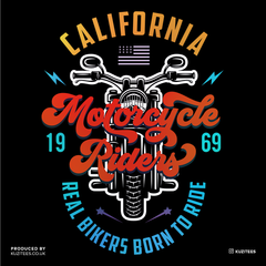 PK-98395-California Motorcycle Riders Real Bikers Born to Ride 1969