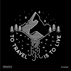 To Travel is To Live Great Outdoors Minimal Tracking Mountain Tee