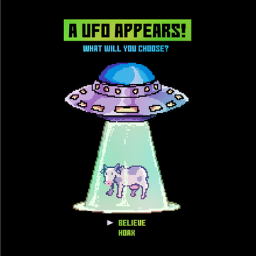 Retro The Ufo Paradox What Will You Choose?  Retro Tee