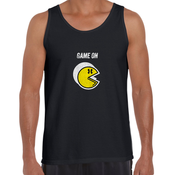 Vintage PACMAN Cool Retro 70s 80s Arcade PC Video Games White Unisex Tank Top