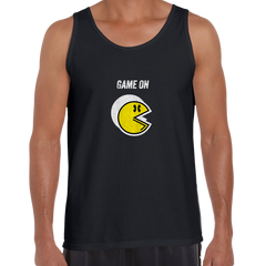 Vintage PACMAN Cool Retro 70s 80s Arcade PC Video Games Black Unisex Tank Top