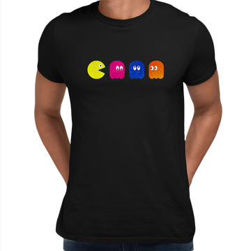 Pac Man T- Shirt Mens Retro White Unisex T-Shirts OLD SKOOL Free Delivery