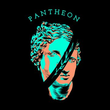 Men's The Roman Pantheon Former Temple Black T-Shirt