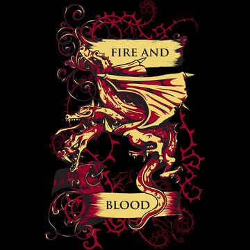Pop Culture T-Shirt Game of Thrones - Fire And Blood