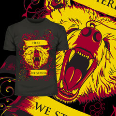Kuzi Tees Game of Thrones - Here We Stand Tall and Proud