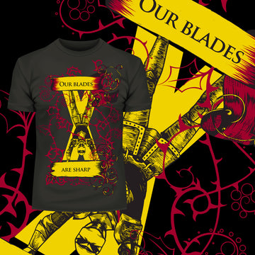 Pop Culture T-Shirt Game of Thrones - Our Blades Are Sharp