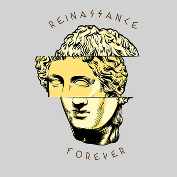 Reinassance Forever Michelangelo Italian Sculptor Antique Women White T Shirt