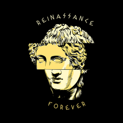 Reinassance Forever Michelangelo Italian Sculptor Antique Women Black T Shirt