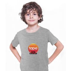 Retro Generation Tape Recorder Black White Grey T-Shirts for Kids OLD SKOOL Grey