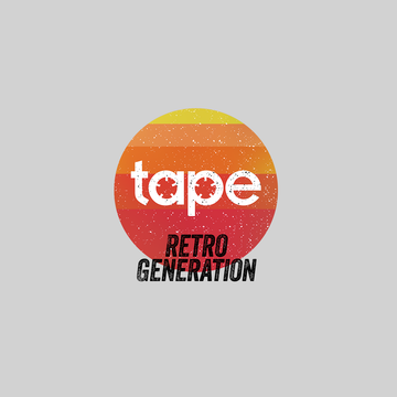 Retro Generation Tape Recorder Black White Grey Unisex T-Shirts OLD SKOOL