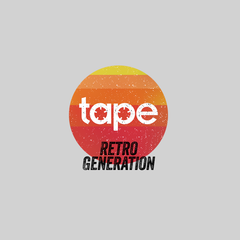 Retro Generation Tape Recorder Black White Grey Unisex White T-Shirts OLD SKOOL