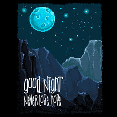 Retro Good Night Never Lose Hope Pixel Art