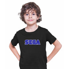 SEGA Old Retro Gaming console Black T-Shirts for Kids OLD SKOOL