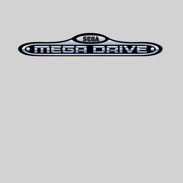 Sega-Mega Drive Black White Grey Computer Unisex Black T-Shirts OLD SKOOL