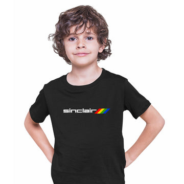 Sinclair-Retro Arcade 80 Gaming Black Grey White White T-Shirts for Kids OLD SKOOL