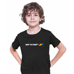 Sinclair-Retro Arcade 80 Gaming Black Grey White T-Shirts for Kids OLD SKOOL Black