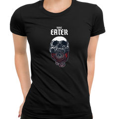 Soul Eater Skull with Roses Harley Dark Occult Black T-shirts for Women