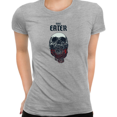 Soul Eater Skull with Roses Harley Dark Occult Grey T-shirts for Women