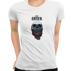 Soul Eater Skull with Roses Harley Dark Occult White T-shirts for Women