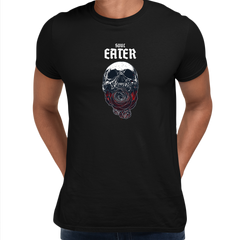 Soul Eater Skull with Roses Harley Dark Occult Black Unisex T-shirt