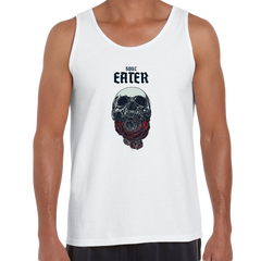 Soul Eater Skull with Roses Harley Dark Occult White Unisex Tank Top
