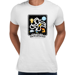Space Retro Spatial Monster shooter Game Men Shirt Unisex Crew Neck White T Shirt