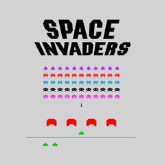 Space Invaders Inspired Unisex T-shirt - Retro Atari Arcade Game Gaming White Tee Shirt for Men NEW