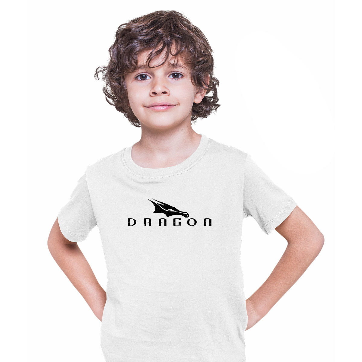 Dragon SpaceX Logo Kids White T-shirt Elon Musk Tesla Space Tech
