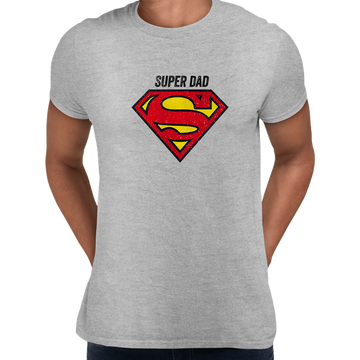 Super Dad Retro Superman DC Comix Action Hero White Unisex T-shirt