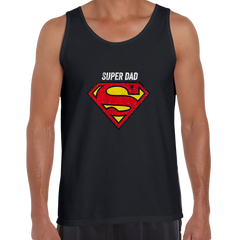 Super Dad Retro Superman DC Comix Action Hero Black Unisex Tank Top