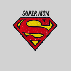 Super Mom Retro Superman DC Comix Action Hero White T-shirt for Women