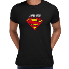 Super Mom Retro Superman DC Comix Action Hero Black Unisex T-shirt